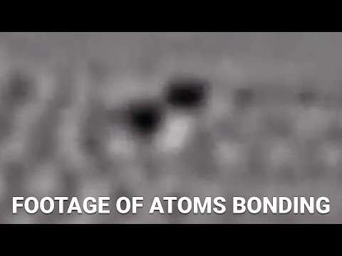 First Ever Footage Of Atoms Bonding And Separating
