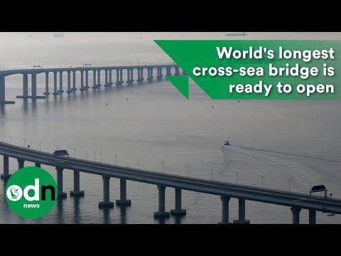 World's longest cross-sea bridge is ready to open
