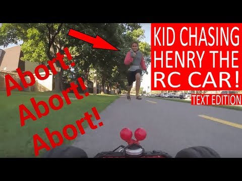 "KIDS CHASING ""HENRY THE FPV RC CAR""!"