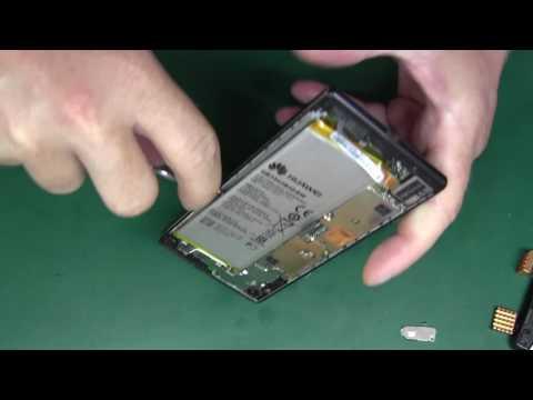 Huawei P7  замена дисплейного модуля