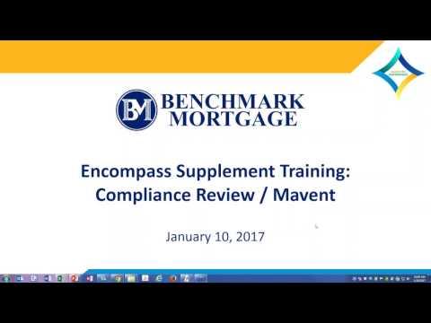 Encompass Training - Compliance Mavent Report 01.10.16