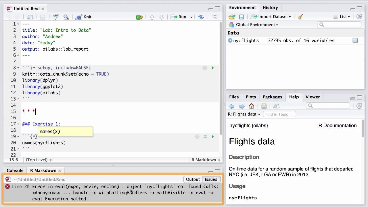 Math 150: Introduction to R and RStudio