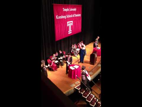 Temple University Kornberg School of Dentistry, Class of 2013 Graduation Ceremony Part 1