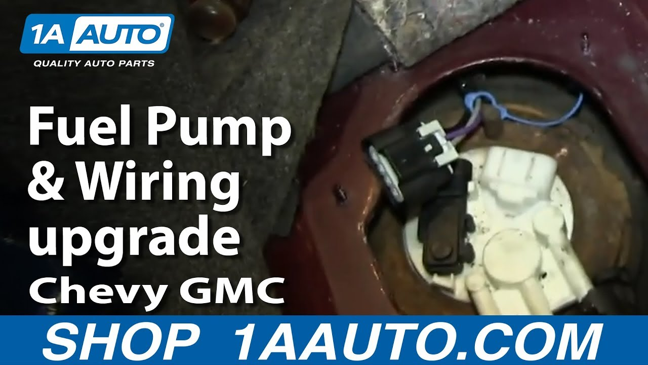 Chevy Gmc Buick Pontiac Fuel Pump And Wiring Upgrade Youtube 2001 S10 Harness
