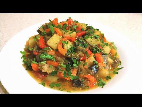 Быстрое овощное рагу. На сковороде.Постное блюдо👍