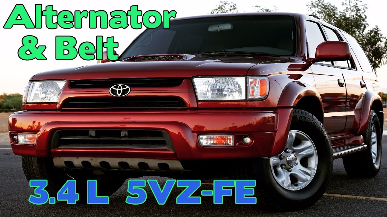 medium resolution of 3 4l 5vz fe alternator and belt replacement 2002 4runner