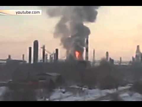 Нефтеперерабатывающий завод полыхает в Комсомольске на Амуре