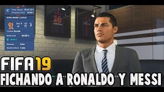 FICHANDO A MESSI Y RONALDO EN MODO CARRERA - FIFA 19