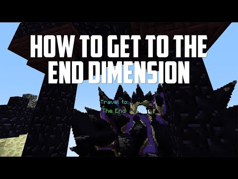 HOW TO GET to the NEW END DIMENSION in Hypixel Skyblock! (END UPDATE)