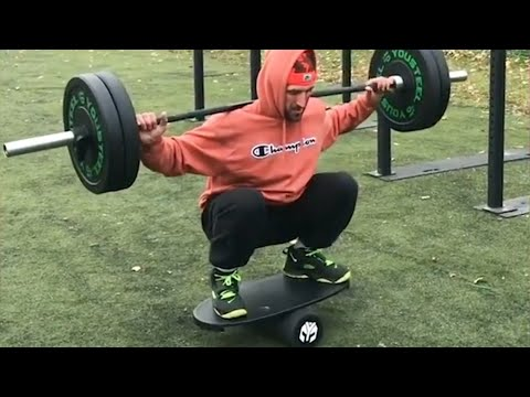 Man Does Squats on Balance Board: Best Of The Month | People Are Awesome