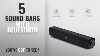 Top 5 Sound Bars With Bluetooth [2018]: Bluetooth Soundbar Speaker with Subwoofers Surround Sound