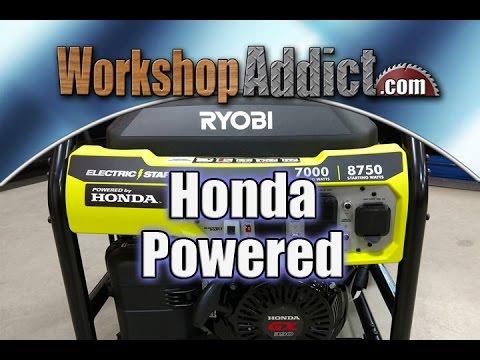 Ryobi 7,000 Watt Electric Start Generator With Honda GX390 Engine RY907000