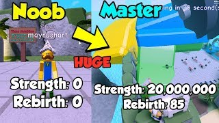 Noob To Master! Strongest Player On Leaderboard! 20 Million Strength! - Weight Lifting Sim ...