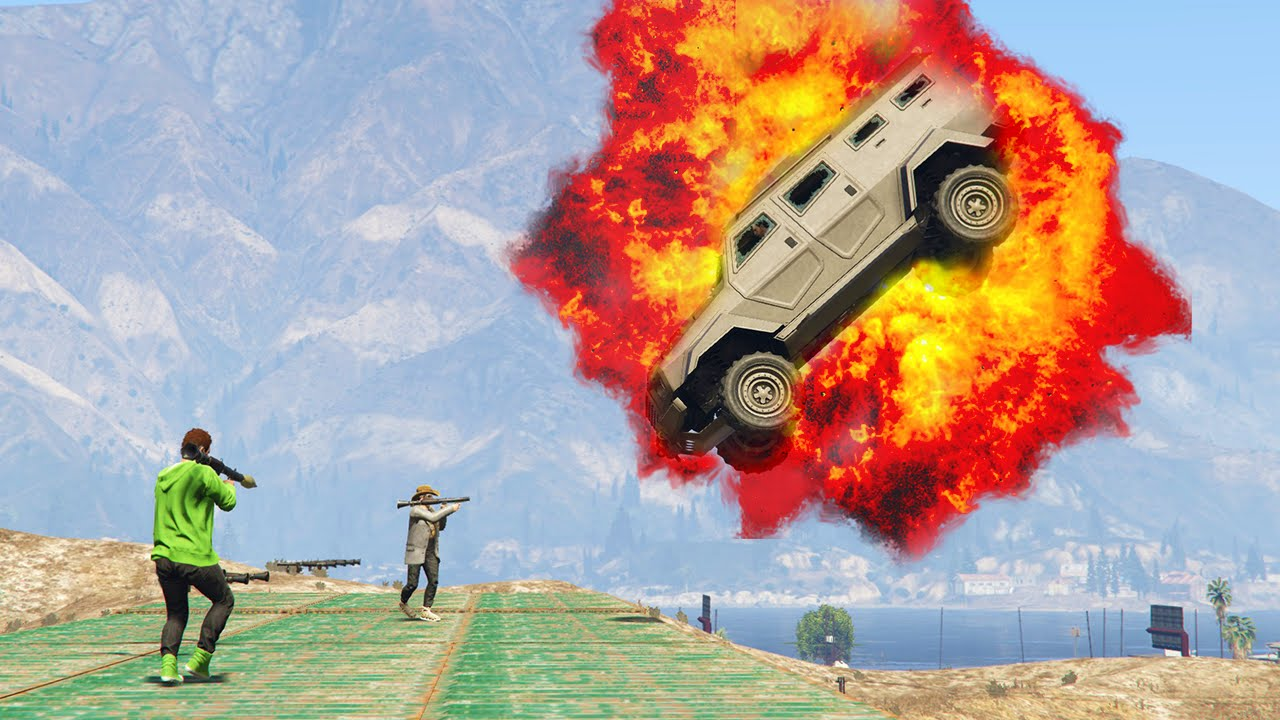 ARMORED CAR vs RPG GTA 5 Funny Moments  FunnyCatTV