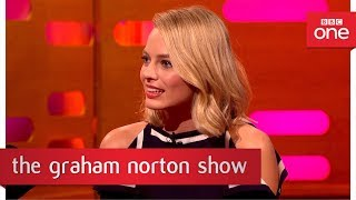 Margot Robbie TATTOOS production staff!  - The Graham Norton Show: 2017 - BBC One