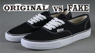 Vans Authentic Black White Original & Fake