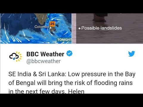 BBC warning Chennai flood alert #50cm rain alert#already 13 cm in 2hrs