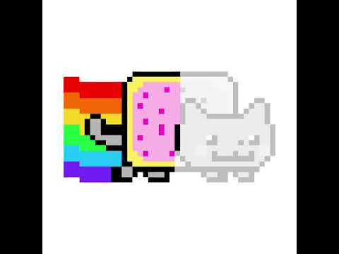Chat Arc En Ciel Pixel Art