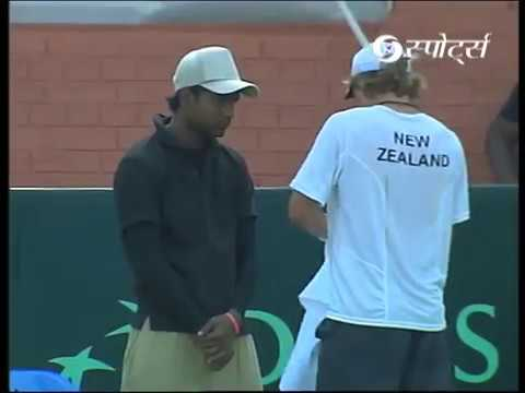 Davis Cup 2012 | Vishnu Vardhan vs Jose Statham | #INDvNZ