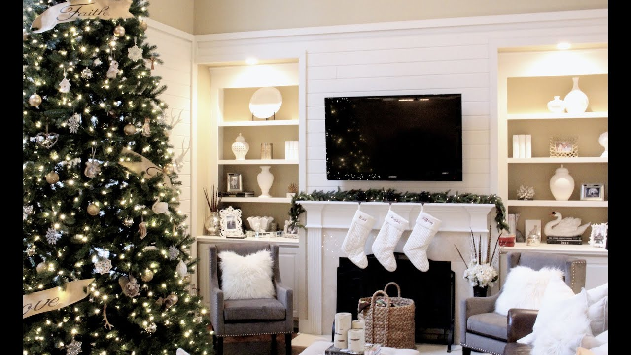 Christmas home tour 2013 decor youtube for Christmas home decorations pinterest