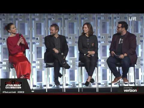 Daisy Ridley speaking on the Last Jedi Panel at Celebration (2017)