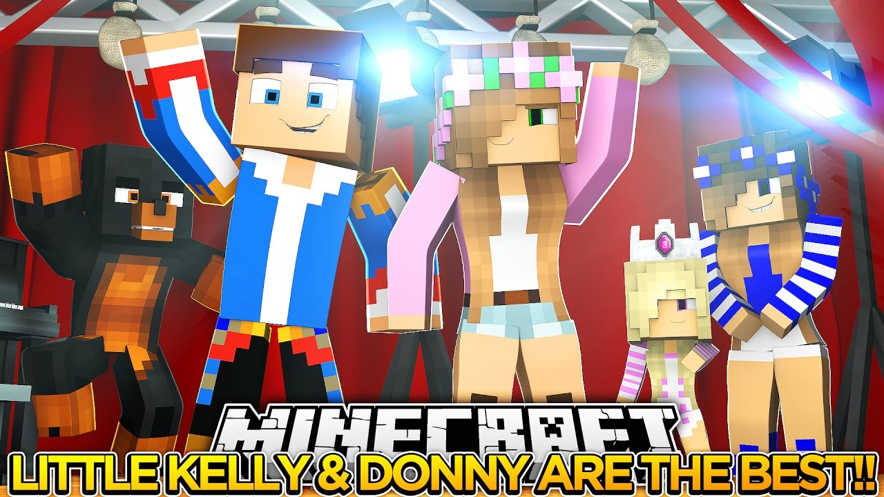 LITTLE KELLY & LITTLE DONNY WIN!! LITTLE CLUB HUNGER GAMES!! – Minecraft Face Cam.