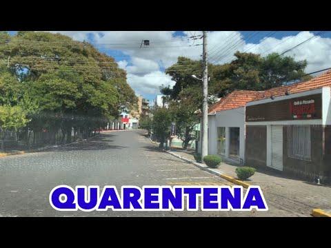 Quarentena- Ruas Vazias Numa Cidade Do Interior Do RS