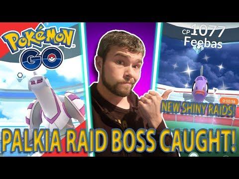 PALKIA RAID BOSS CAUGHT AND NEW SHINY RAID BOSSES!? Pokemon GO thumbnail