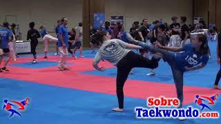 Taekwondo warm up and target drills.