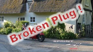 Spark Plug Snapped Sprint ST 1050