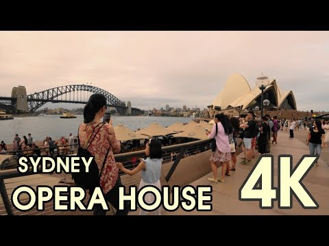 【4K UHD BEAUTIFUL SYDNEY AUSTRALIA】 Walking Through Circular Quay To Sydney Opera House