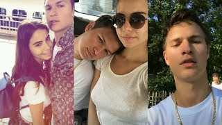 Ansel Elgort with Violetta Komyshan | Instagram Story Videos | August 20 2017
