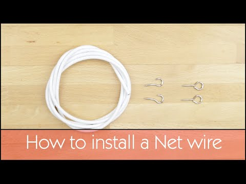 How to Fit Net Curtains Wire - Woodyatt Curtains