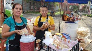♤ ¡Mira la reacción de la Señora que vende Los Panes con frijoles en San Miguel El Salvador...! ♤╰☆╮