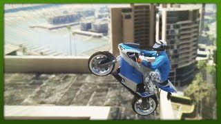 GTA 5 Stunts - Top 5 Stunts - INSANE Bike Stunts! - (GTA V Online Stunts)