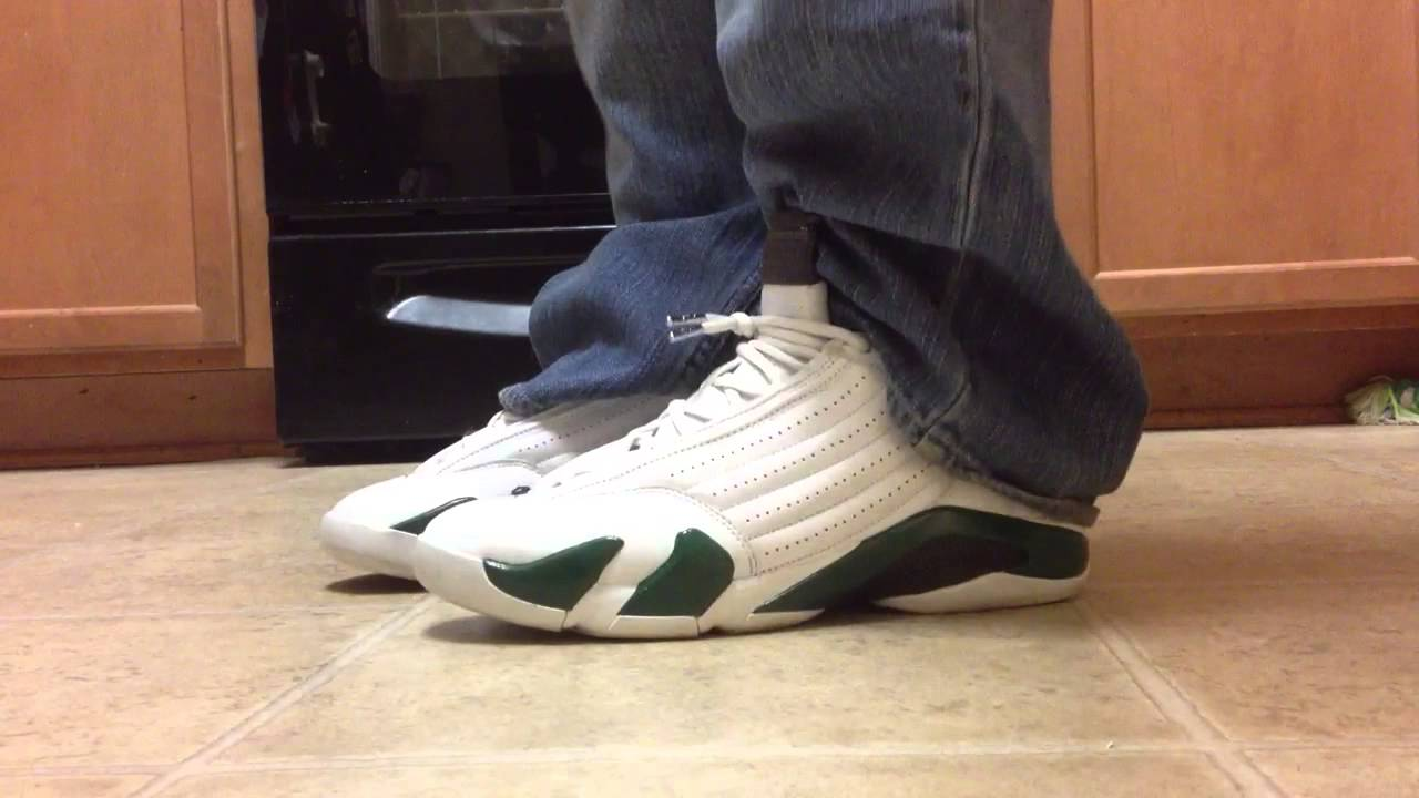 cca52a1fcde012 ... discount white forest green quick view air jordan 14 on my feet  whitegreen air jordan xiv