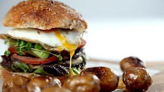 The Mediterranean breakfast burger