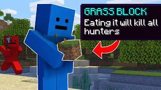 Minecraft Manhunt, But Y๐u Can Eat Blocks...