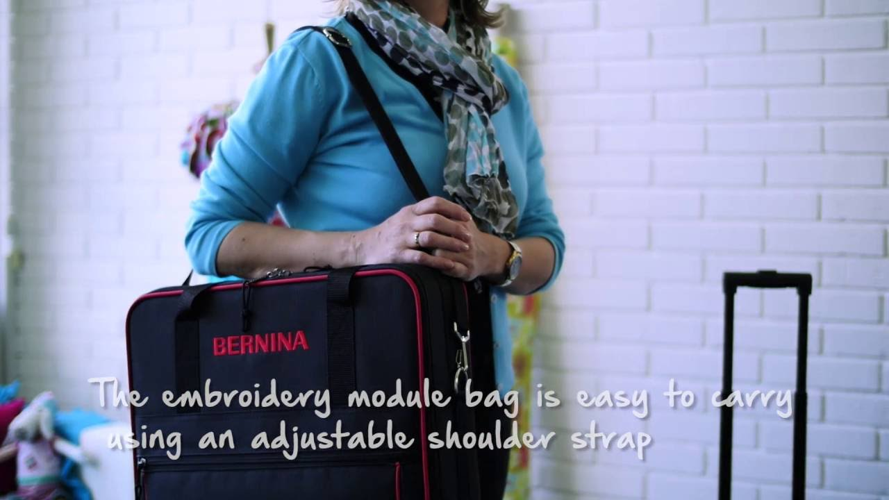 Tutorial  how to safely transport your sewing machine in a BERNINA trolley 7114e977c88c4