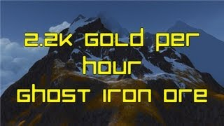 WoW Gold - (2250g+/hr) Ghost Iron Ore Farming/Grinding - Mining Guide to Gold - Dubisttot