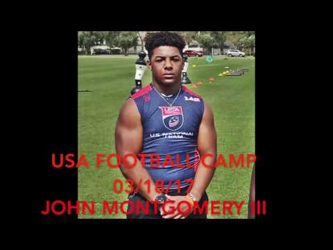 John Montgomery III - USA Football Camp - 3/18/17