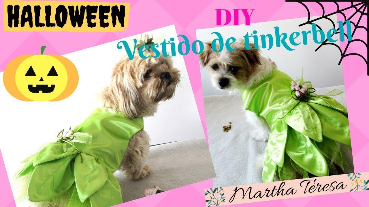 vestido de tinkerbell para mascotas diy halloween youtube