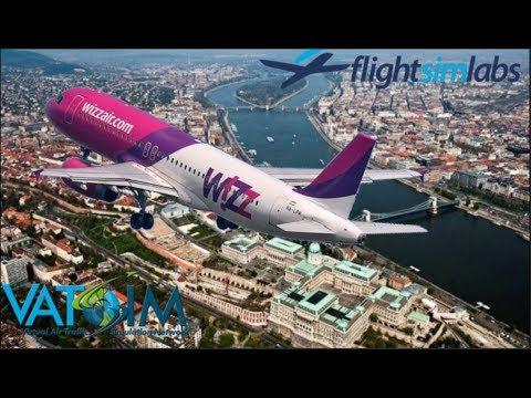 FSlabs A320 On Vatsim. London To Budapest