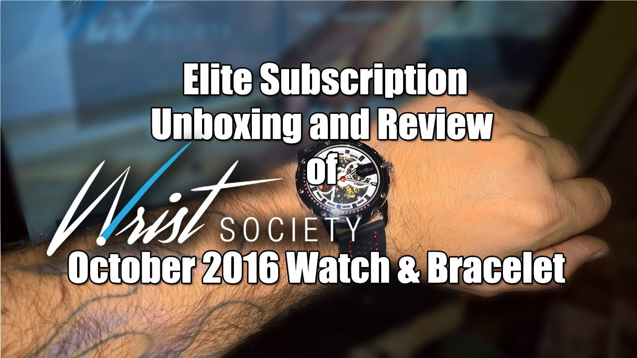 wrist society subscription box october 2016 unboxing first