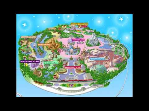 Disneyland Map (Minecraft) Turn on Annotations! - YouTube on