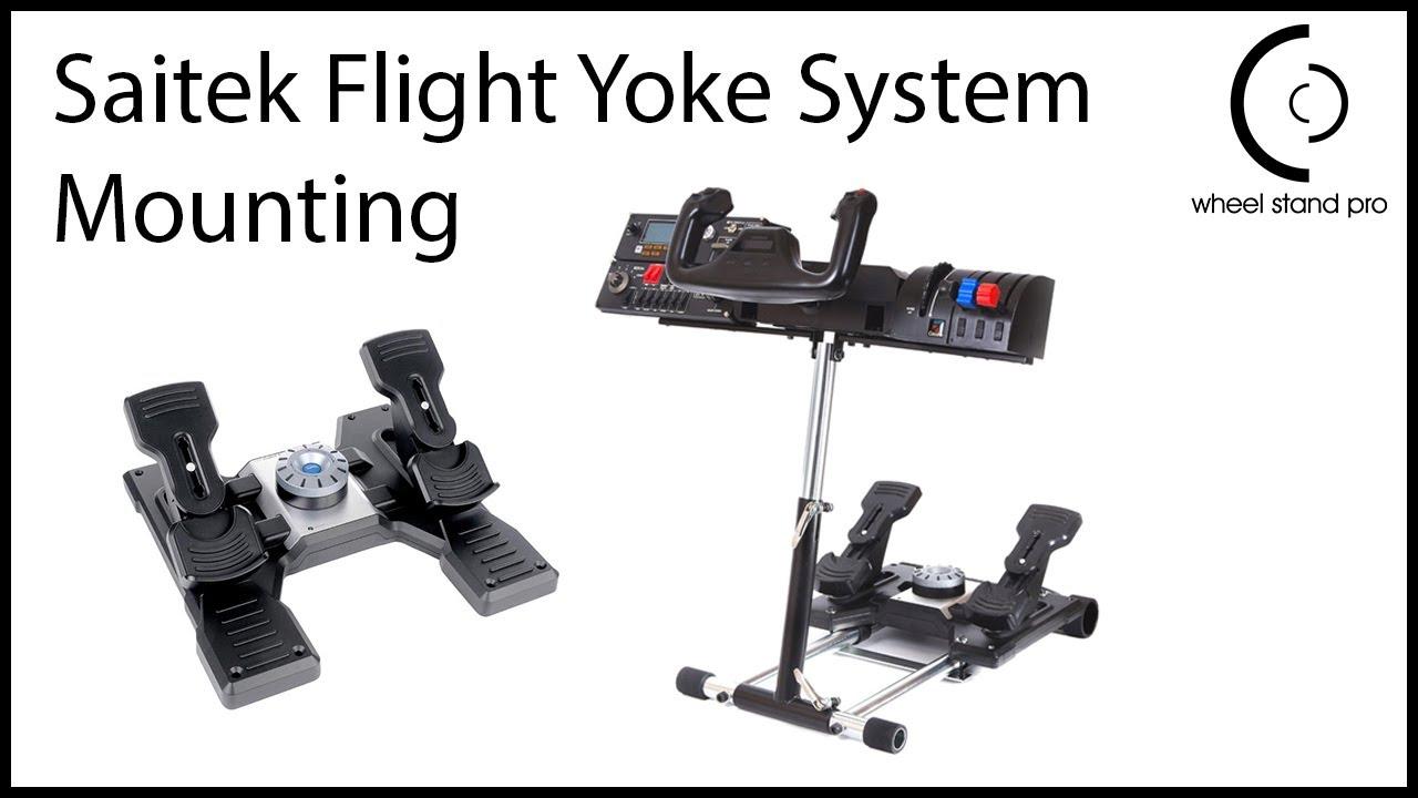 Wheel Stand Pro set up with Saitek Flight Yoke System
