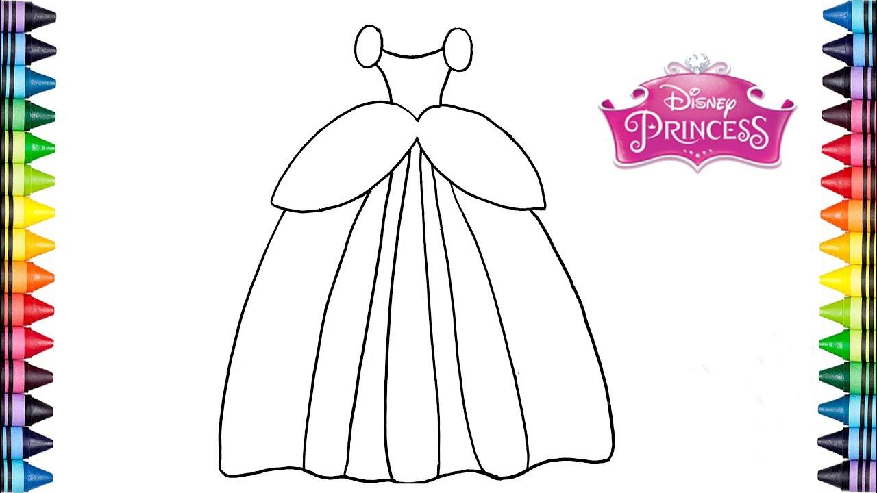 Como Dibujar un vestido de PRINCESAS? - Dibujos para niños - YouTube