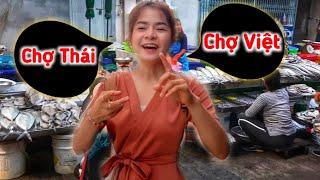 Chợ Ở Thái Lan Khác Hay Giống Chợ Việt Nam | Bé Nan Nói Tiếng Việt | Duy Nisa