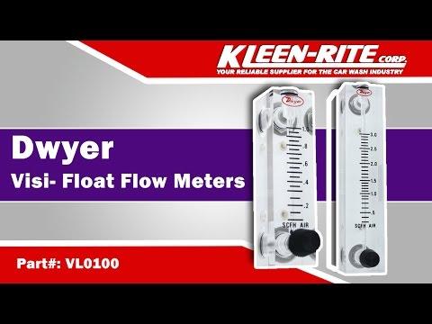 Range 0.05-5 SCFH Air 2 Scale Dwyer Instruments RMA-1 Dwyer Rate-Master Series RM Flowmeter 2 Scale