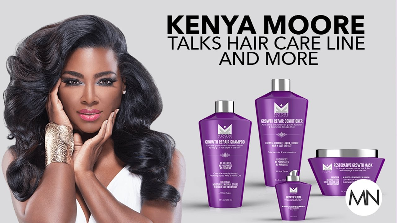 Kenya Moores Reveals Secrets To Growing Natural Long Hair Youtube